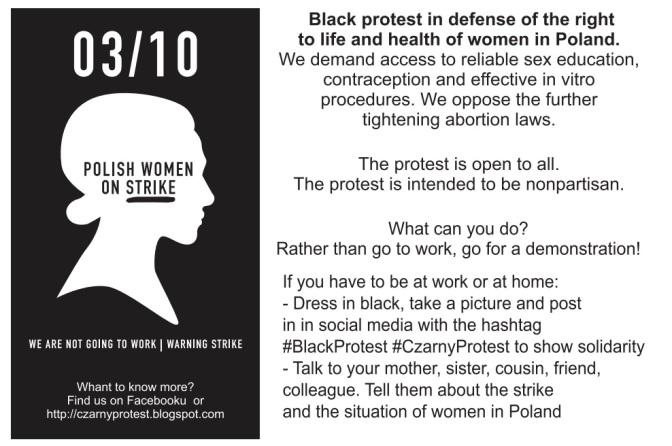 Marchas de Mujeres (1): El lunes negro en Polonia.