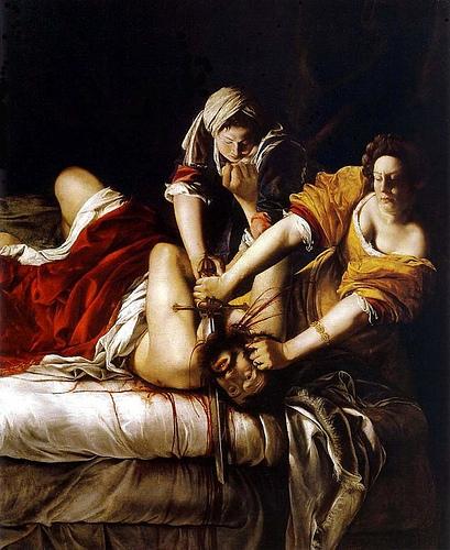 Artemisia Gentileschi, Judith Beheading Holofernes, c.1613-14