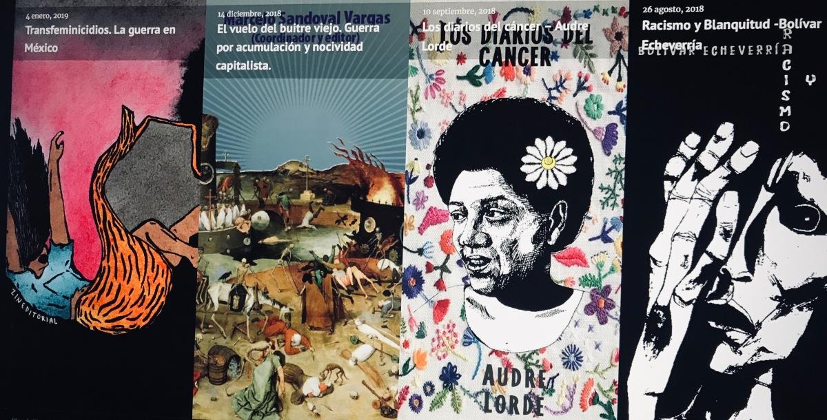 Zineditorial:fanzine, folletos, libritos de abajo y a la izquierda